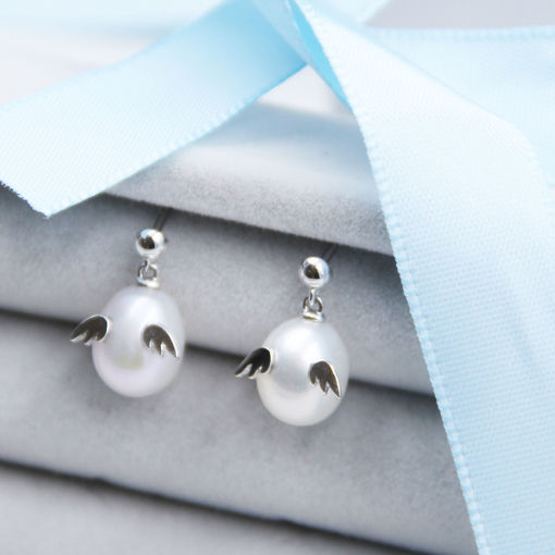 圖片 Tenshi no Tamago天使の卵Angel Egg系列純銀珍珠款耳環