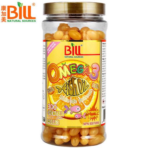 圖片 魚油Omega 3 香橙味爆漿可咀嚼軟膠囊 300 粒