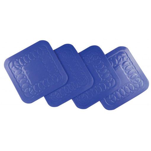 圖片 AIDAPT - 防滑矽膠杯墊 (4個裝) - 藍色