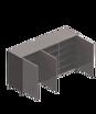 圖片 德國寶 三門鞋櫃 (強化黑玻璃頂板)