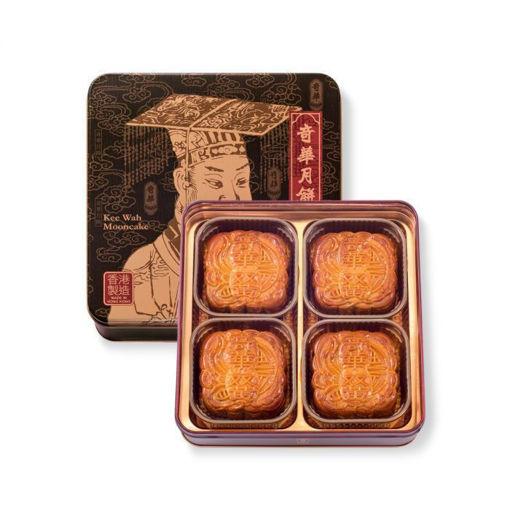 圖片 奇華雙黃金黃蓮蓉月餅(四個)(禮券)