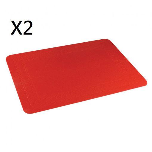 圖片 AIDAPT - 矽橡膠防滑墊35.5x25.5厘米 (紅色)(兩件裝)