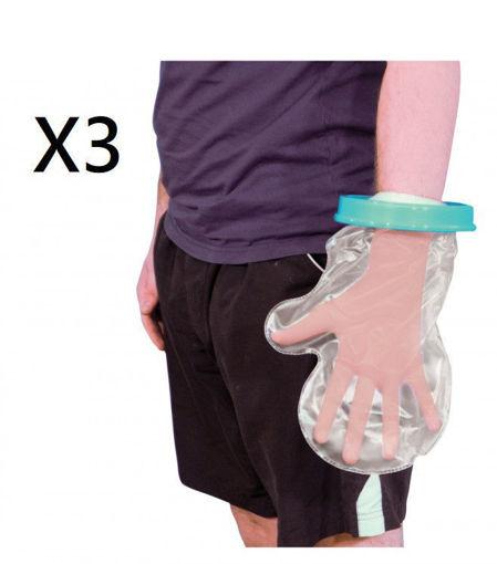 圖片 AIDAPT - 沐浴防水保護手套 - 成人手掌款 (三盒裝)
